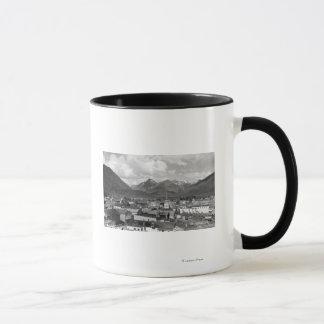 Sitka, Alaska with Three Sisters in Background Mug