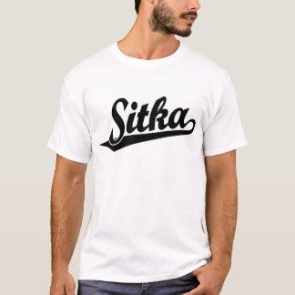 Sitka script logo in black T-Shirt