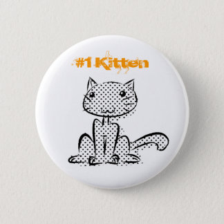 Sitting #1 Kitten 2 Inch Round Button