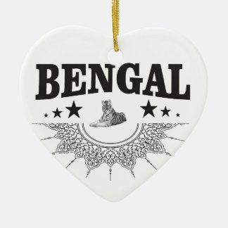 Sitting Bengal Ceramic Ornament