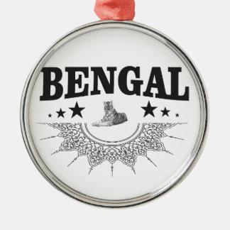 Sitting Bengal Metal Ornament