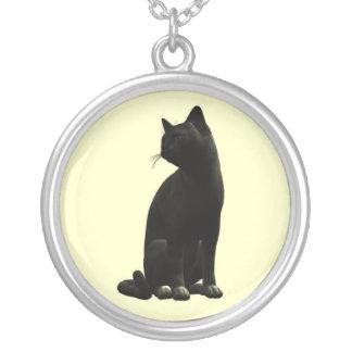 Sitting Black Cat Necklace
