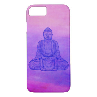 Sitting Buddha on Watercolor Wash iPhone 8/7 Case