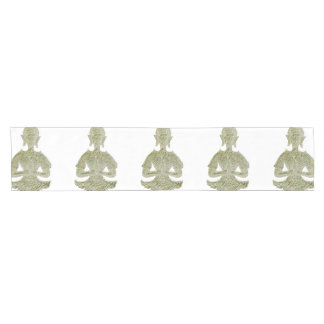 sitting buddha short table runner