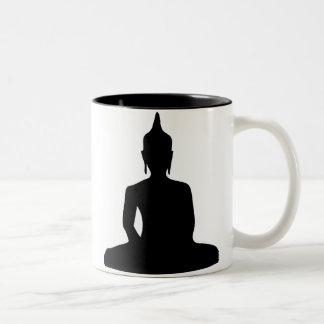 Sitting Buddha Silhouette Mug