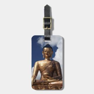 Sitting Buddha Statue Luggage Tag