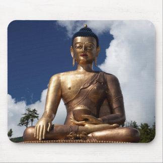 Sitting Buddha Statue Mouse Pad