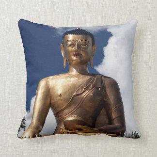Sitting Buddha Statue Throw Pillow