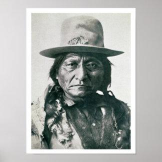 Sitting Bull (1831-1890) (b/w photo) Poster