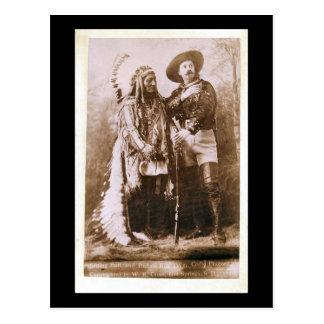 Sitting Bull and Buffalo Bill 1895 Postcard