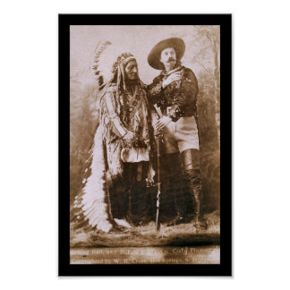 Sitting Bull & Buffalo Bill 1891 Poster