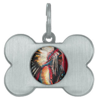 Sitting Bull in Color Pet Name Tag