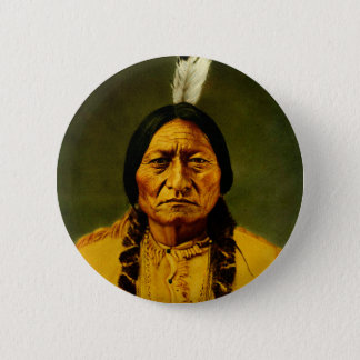 Sitting Bull Native American Indian Chief 2 Inch Round Button
