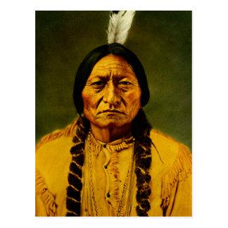 Sitting Bull Native American Indian Chief Postcard