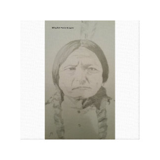 Sitting Bull: Native American Indian Sioux Warrior Canvas Print