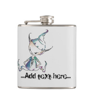 Sitting Goofy Goblin / Pixie Hip Flask