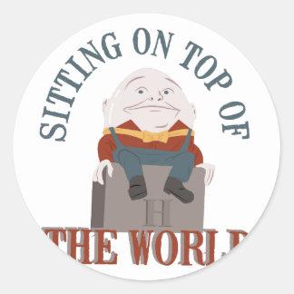 Sitting Humpty Dumpty Classic Round Sticker