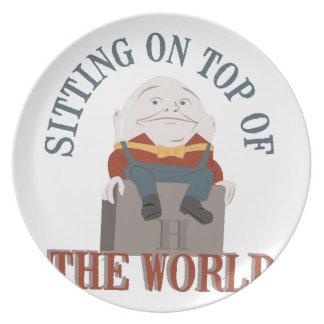Sitting Humpty Dumpty Plate