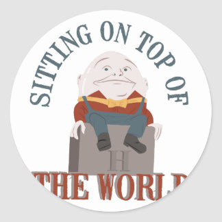 Sitting Humpty Dumpty Round Sticker