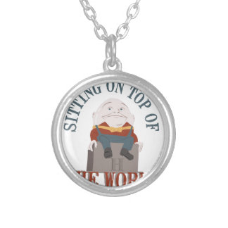 Sitting Humpty Dumpty Silver Plated Necklace