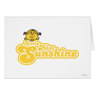Sitting Little Miss Sunshine Card