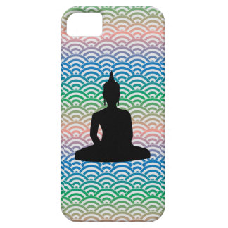 Sitting Meditation Buddha in sea of colorful wave iPhone 5 Covers