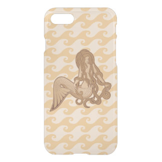 Sitting Mermaid Beige iPhone 7 Case