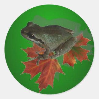 Sitting On Leaves Sticker