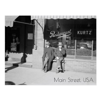 Sitting on Main Street Postcard