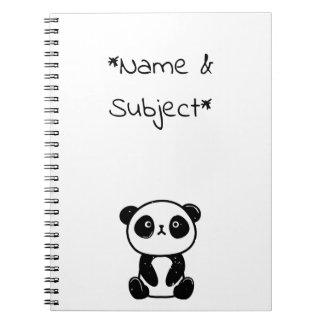 Sitting Panda Bear Notebook