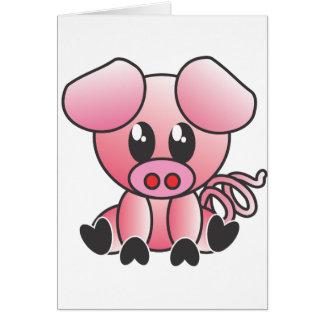 Sitting Piggy Greeting Card