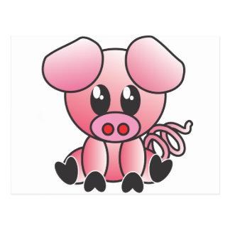 Sitting Piggy Postcard