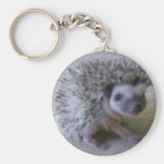 Sitting pretty hedgehog keychain