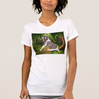 Sitting Pretty Paint Horse in Forest T-Shirt
