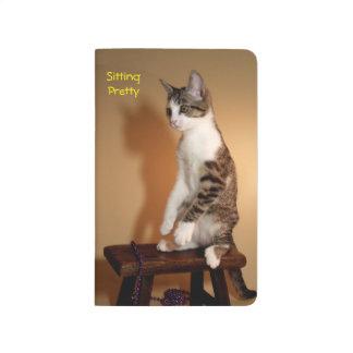 Sitting Pretty Upright Cat Journal