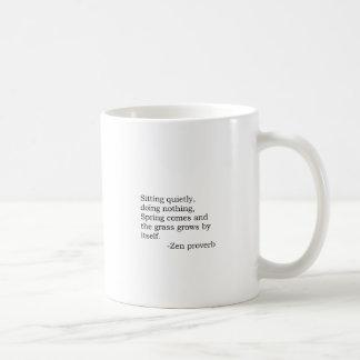 Sitting quietly coffee mug