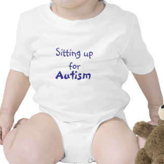 Sitting  up for Autism !! Baby Bodysuits