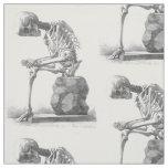 Sitting vintage skeleton thinking textile fabric
