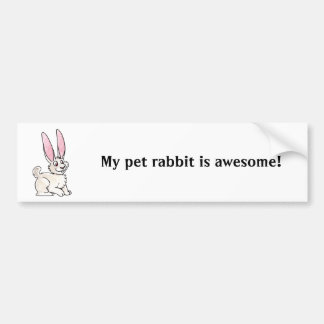 Sitting White Rabbit Car Bumper Sticker