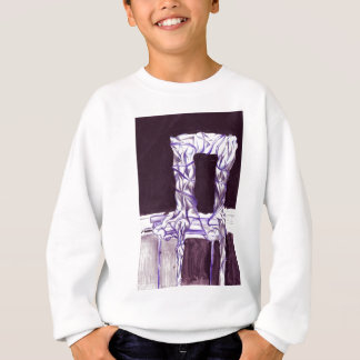 sitting with the class sweatshirt