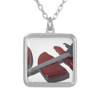 SittingOnBrokenHeartSword012915 Silver Plated Necklace