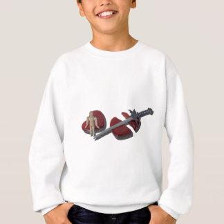 SittingOnBrokenHeartSword012915 Sweatshirt