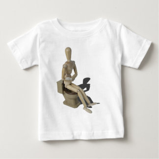 SittingOnToiletWithPain082414 copy Baby T-Shirt