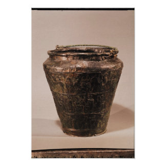 Situla with three repousse decorative bands poster