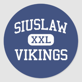 Siuslaw - Vikings - High School - Florence Oregon Round Sticker