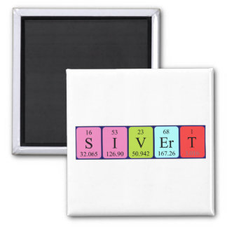 Sivert periodic table name magnet