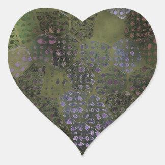 Sivery Batik Heart Sticker