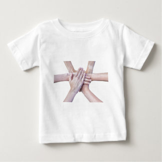 Six arms unite with hands on each other baby T-Shirt