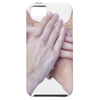 Six arms unite with hands on each other iPhone 5 covers