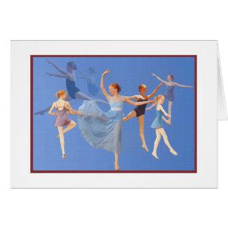 Six Ballerinas Dancing Card
